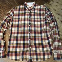 USED Brooksbrothers マドラスチェック ボタンダウンシャツ