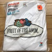 80s デッドストック フルーツ オブ ザ ルーム 3枚パック バインダー Vネック Tシャツ!