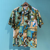 70s〜BAREFOOT IN PARADISE  HAWAIIAN シャツ