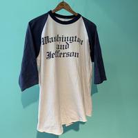 70s〜染み込みプリント ベースボールTシャツ!