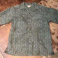 L.L Bean バティック柄 オープンカラーシャツ!