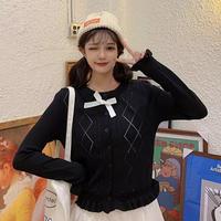 透かし編みショート丈ニット♡ブラック