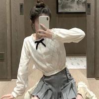 透かし編みショート丈ニット♡ホワイト