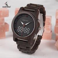 BOBO BIRD 腕時計 デジタル腕時計 LED 木製腕時計 カジュアル ビジネス メンズ クォーツ 木の温もり