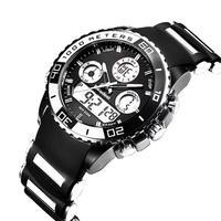 メンズ腕時計 ブラック Led  デジタル クォーツ腕時計 防水 スポーツウォッチ 人気