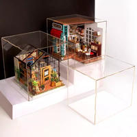 アクリルケース ドールハウス フィギュア ミニチュア DIY 透明ケース ほこり防止 DG01Z