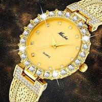レディース腕時計 ゴージャス エレガント クオーツ ラインストーン ラグジュアリー 海外人気商品