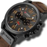 メンズ腕時計 クォーツ腕時計 防水 クロノグラフ CURREN カジュアル ビジネス 人気
