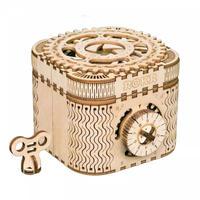 木製 工作キット 宝箱 ブロック パズル おもちゃ 3D立体パズル DIY クラフト