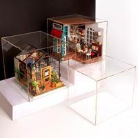 アクリルケース ドールハウス フィギュア ミニチュア DIY 透明ケース ほこり防止 DG02Z