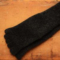 Organic Wool 5本指ソックス ~23.5cm  ダークグレー