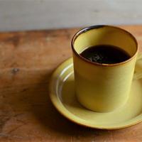 加藤かずみさん コーヒーカップ 淡黄