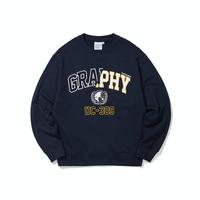 『Code:graphy』  ハーフアウトラインロゴスウェット (Navy)