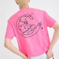 『Motivestreet』 ウエーブベア半袖 Tシャツ (NeonPink)