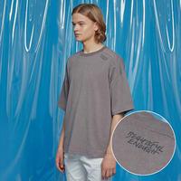 『Motivestreet』 ベンツピグメントオーバーサイズ Tシャツ (Charcoal)