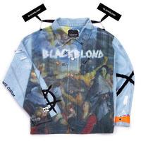 『BLACKBLOND』 イノセントプルカバーデニムジャケット (Light Blue)