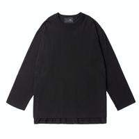 『 BY.L 』  ダブルネックオーバーサイズ Tシャツ (Black)