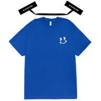 『BLACKBLOND』  クラシックスマイルロゴ半袖 Tシャツ (Blue)