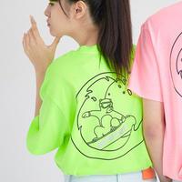 『Motivestreet』 ウエーブベア半袖 Tシャツ (NeonLime)
