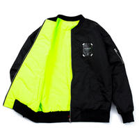 『BLACKBLOND』 リバーシブルオーバーサイズ MA1 ジャケット (Black/Neon)