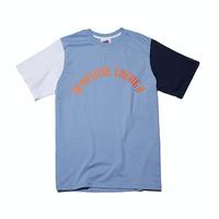 『Motivestreet』 カラーブロック半袖  Tシャツ (SkyBlue)