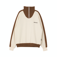 Motivestreet MASK HALF ZIPUP SWEAT SHIRT (Cream)