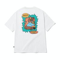 『grooverhyme』  ハニーアンドピザ Tシャツ (White)
