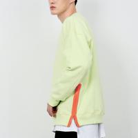 『 BY:L 』    カラージッパースウェットシャツ (LightGreen)