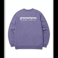 『grooverhyme』  NYC ロケーションスウェット (Purple)