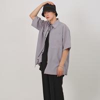 『 BY:L 』    ミニマルオーバージッパーシャツ (Grey)