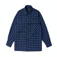 『 BY.L 』    カバーチェックシャツ (Blue)