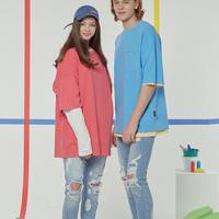 『Motivestreet』 デーリーピグメントオーバーサイズ Tシャツ