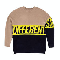 Motivestreet SLOGAN KNIT SWEAT SHIRT (Beige)
