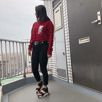 Swallowtale PVC Red/Black Stripe long sleeved T-shirts