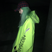 『BLACKBLOND』  グラフィティーナンバーパーカー (Neon)