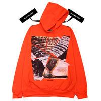 『BLACKBLOND』  クラッシュドエラパーカー (Orange)