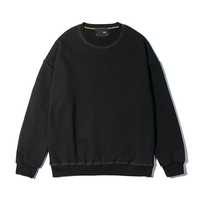 『 BY:L 』    カラージッパースウェットシャツ (Black)