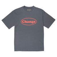 『Verynineflux』  オーバル  Tシャツ (Charcoal)