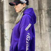 『BLACKBLOND』  グラフィティーナンバーパーカー (Purple)