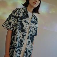 『LOUPS BLANCS』 タイダイオープンカラーショートシャツ