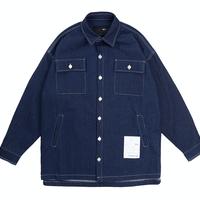 『 BY.L 』  ホワイトステッチシャツジャケット (Indigo)