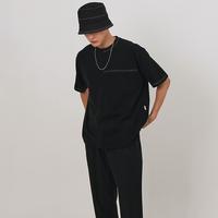 『 BY:L 』    ステッチアンネックTシャツ (Black)