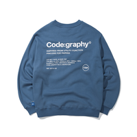 『Code:graphy』  レファレンスロゴスウェット (Blue)