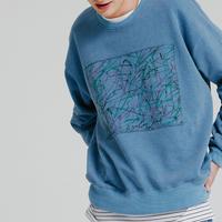 『MOTIVESTREET』   ブラシスウェットシャツ  (Blue)
