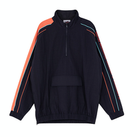 Motivestreet COLOR LINE HALF ZIP UP JACKET (Navy)
