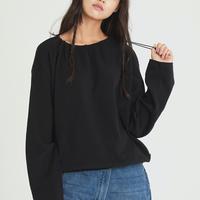 『Motivestreet』 プディングクロップスウェットシャツ (Black)