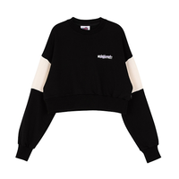 Motivestreet CROP TOP SWEAT SHIRT (Black)