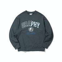 『Code:graphy』  ハーフアウトラインロゴスウェット (Charcoal)