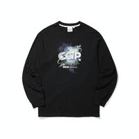『Code:graphy』  アースロゴロングスリーブ Tシャツ (Black)