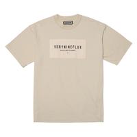 『Verynineflux』 パッチリバース Tシャツ (Beige)
